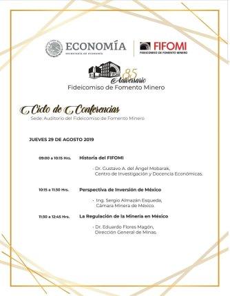 Ciclo de conferencias FIFOMI 29 agos