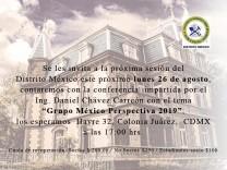 Sesión Distrito México 26 agosto